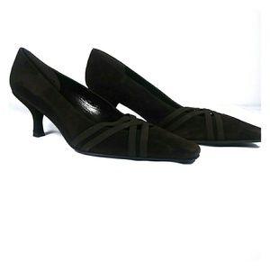 Stuart Weitzman dark brown heels 8m